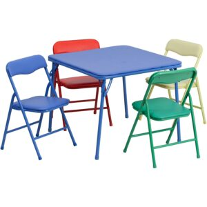 The Best Kids Tables Option: Flash Furniture Kids Colorful 5 Piece Folding Table