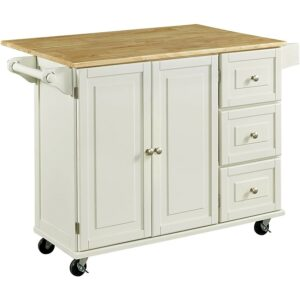The Best Kitchen Cart Option: Home Styles Liberty Kitchen Cart with Wood Top