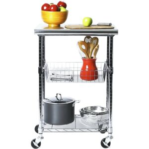 The Best Kitchen Cart Option: Seville Classics Stainless-Steel Professional Kitchen