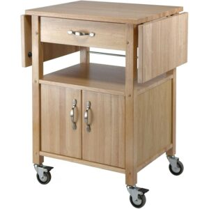 The Best Kitchen Cart Option: Winsome Wood Drop-Leaf Kitchen Cart