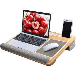The Best Lap Desk Option: HUANUO Lap Desk, Built-in Mouse Padane