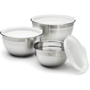 最佳搅拌碗选项:Cuteinart不锈钢搅拌碗带盖子