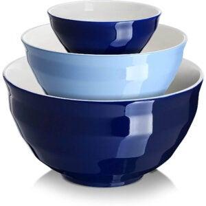 最佳混合碗选择:唐安陶瓷混合碗三件套