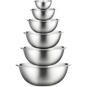 最佳搅拌碗选择:fine edine不锈钢搅拌碗(一套6个)