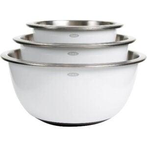 最佳混合碗选择:OXO好握柄3件不锈钢碗套装