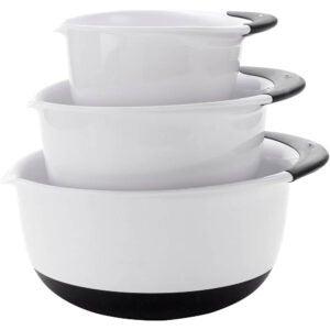 最好的混合碗选项:oxo好握把混合碗套装黑色手柄