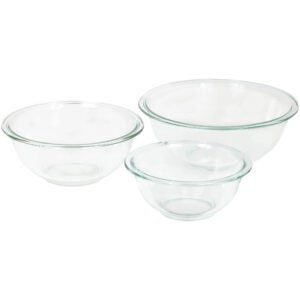 最佳搅拌碗选择:耐热玻璃搅拌碗套装(3件)