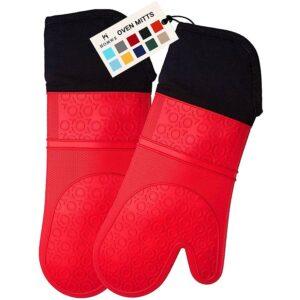 最佳烤箱手套选择:HOMWE超长硅胶烤箱手套