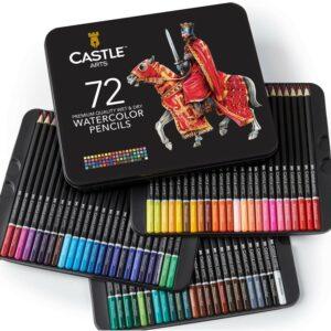 最好的铅笔选项:城堡艺术用品72水彩铅笔
