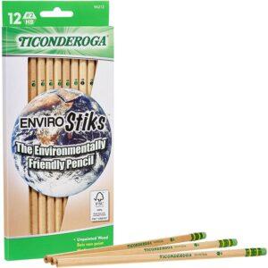 最佳铅笔选择:Ticonderoga Envirostik天然木材铅笔