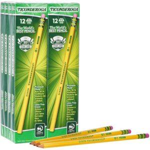 最好的铅笔选项:Ticonderoga铅笔,木套,未刮伤