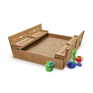 The Best Sandbox Option: Badger Basket Covered Convertible Cedar Sandbox