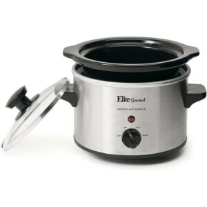 The Best Slow Cooker Option: Elite Gourmet Lid & Ceramic Pot Slow Cooker