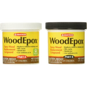 The Best Stainable Wood Option: FillerAbatron WoodEpox Epoxy Wood Replacement Compound