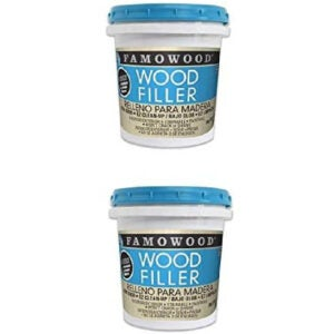 The Best Stainable Wood Option: FillerFamoWood 40022126 Latex Wood Filler - Pint, Natural
