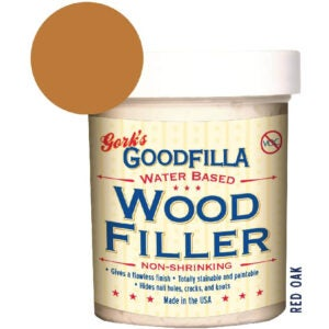 The Best Stainable Wood Option: FillerGoodfilla Water-Based Wood & Grain Filler