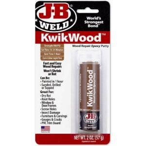 The Best Stainable Wood Option: FillerJ-B Weld 8257 KwikWood Wood Repair Epoxy Putty Stick