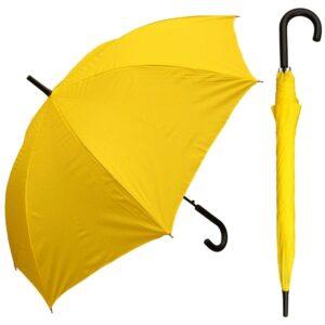 "The Best Umbrella Option: RainStoppers 48"" Auto Open Yellow Umbrella"