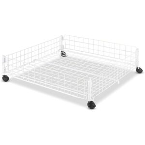 The Best Underbed Storage Option: Whitmor Rolling White Wire Underbed Cart