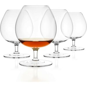 The Best Whiskey Glasses Options: Luxbe - Brandy & Cognac Crystal Glasses Snifter