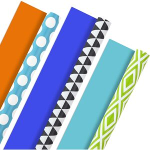 The Best Wrapping Paper Option: Hallmark Reversible Wrapping Paper, Brights