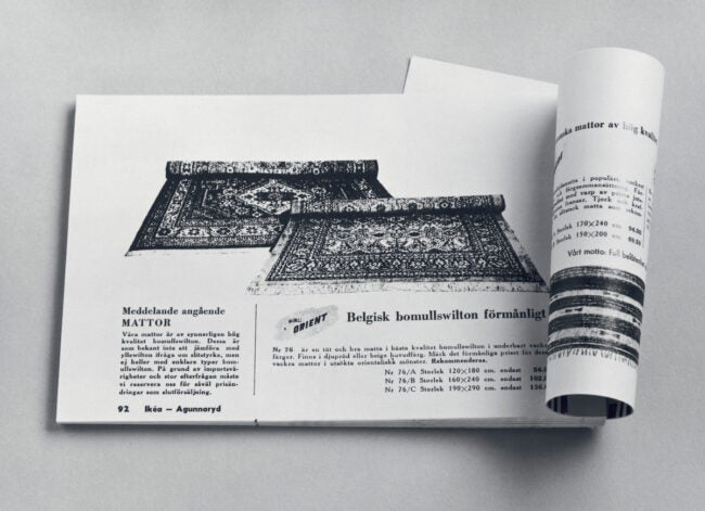 one of first IKEA catalogs to be printed