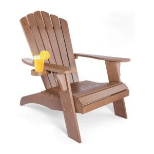 The Best Patio Chairs: OT QOMOTOP Oversized Poly Lumber Adirondack Chair