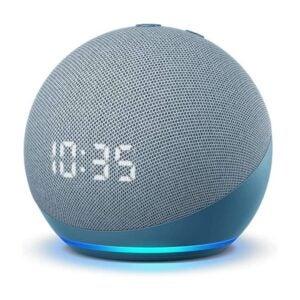 最好的时钟无线电选项:亚马逊全新回声点智能扬声器,时钟