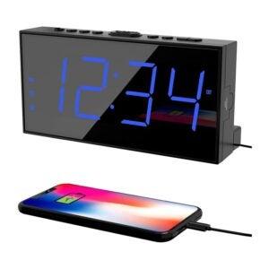 最佳时钟无线电选项:Pplee数字双警报时钟
