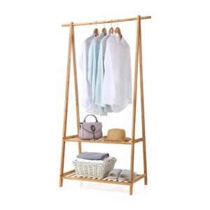 The Best Clothes Rack Option: Finnhomy Bamboo Clothes Rack