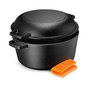 最佳荷兰烤箱选择:传奇铸铁荷兰烤箱5夸脱多灶
