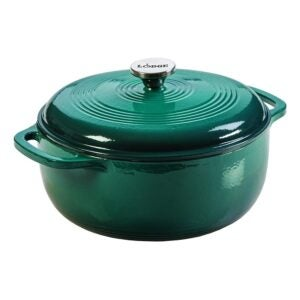 The Best Dutch Oven Option: Lodge 6 Quart Enameled Cast Iron Dutch Oven