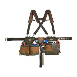 The Best Framing Tool Belt Option: Bucket Boss - AirLift Tool Belt with Suspenders
