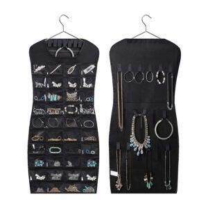 The Best Jewelry Organizer Option: MISSLO Dual sided Hanging Jewelry Organizer
