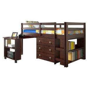 The Best Loft Bed Option: DONCO Kids Low Study Loft Bed