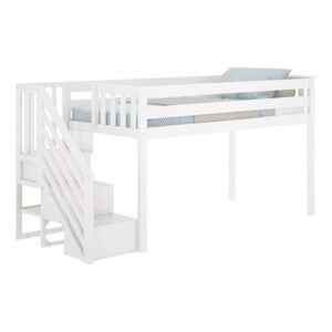 The Best Loft Bed Option: Max & Lily Twin Low Loft Bed with Staircase