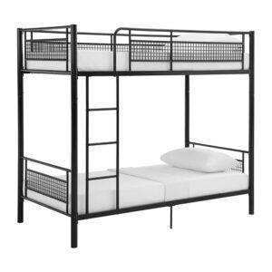 The Best Loft Bed Option: Walker Edison Modern Metal Pipe Twin over Workstation