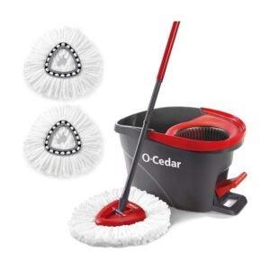 木地板最佳拖把选择:O-Cedar Easywring旋转拖把和水桶