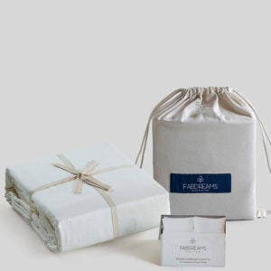 The Best Organic Sheet Option: Fabdreams 100% Organic Cotton King Ivory Sheet Set