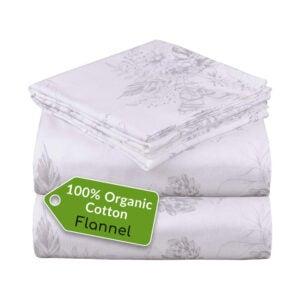 最佳有机床单选择:Mellanni 100%有机棉法兰绒床单套装