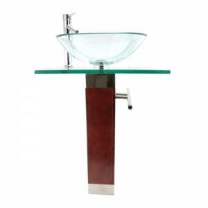 The Best Pedestal Sink Option: The Renovators Supply Bohemia Glass Pedestal Sink