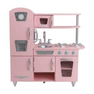 The Best Play Kitchen Option: KidKraft Vintage Kitchen in Pink