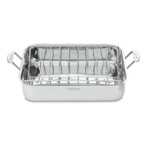 The Best Roasting Pan Option: Cuisinart Chef's Classic Stainless 16-Inch Roaster