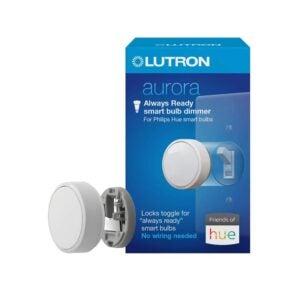 最好的智能调光器开关选项:Lutron Z3-1BRL-WH-L0 Aurora智能灯泡调光器