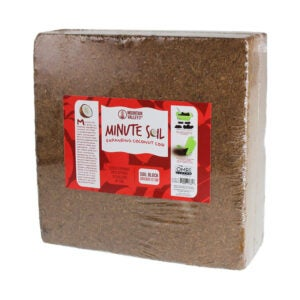 The Best Soil for Raised Beds Option: Mountain Valley Minute Soil - Compressed Coco Coir