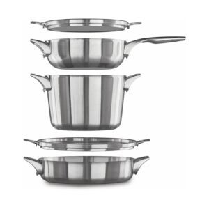 The Best Stainless-Steel Cookware Option: Calphalon Premier Space Saving Stainless Steel Set