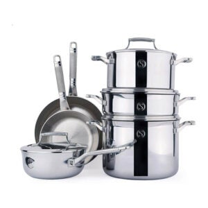 The Best Stainless-Steel Cookware Option: SAVEUR SELECTS 10-piece Tri-ply Cookware Set