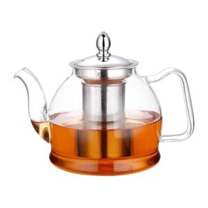 The Best Tea Kettle Option: Hiware 1000ml Glass Teapot with Removable Infuser
