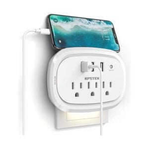 The Best USB Wall Outlet Option: KPSTEK USB Wall Charger Outlet Extender Multi Plug