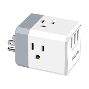 The Best USB Wall Outlet Option: POWSAV Multi Plug Outlet